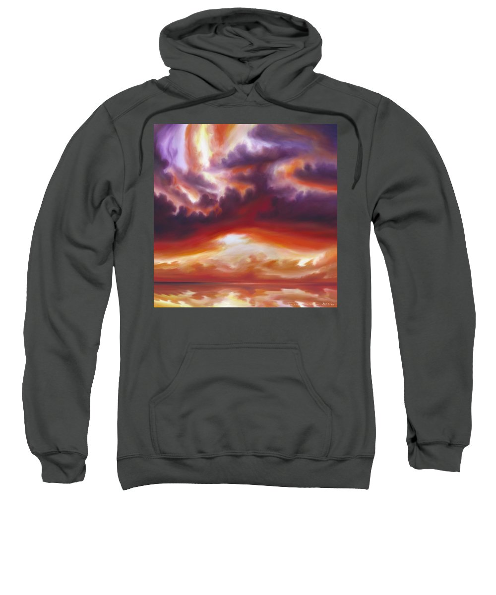 Skyscape Sweatshirt featuring the painting Coastline by James Christopher Hill