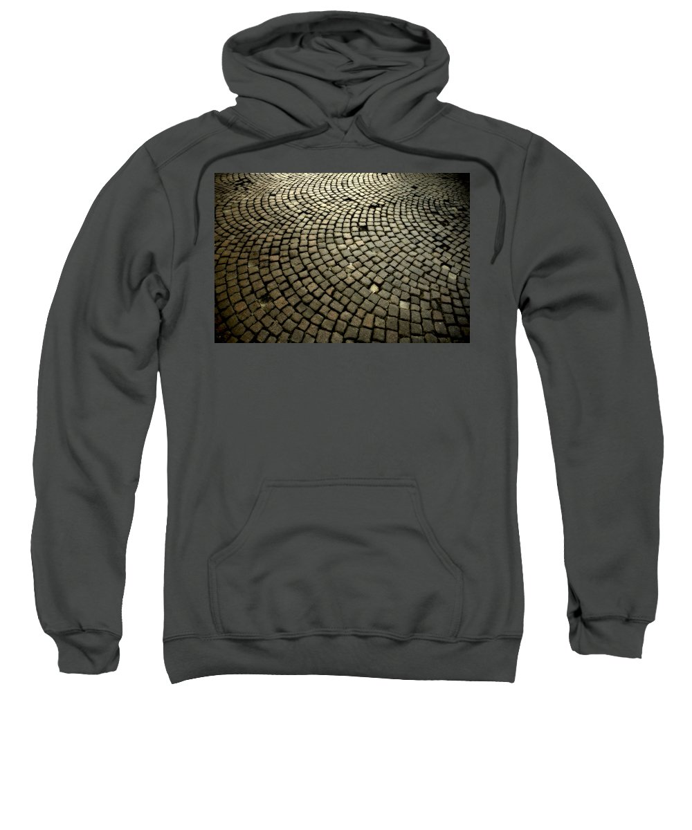 Street Sweatshirt featuring the photograph Cobblestone by Marilyn Hunt