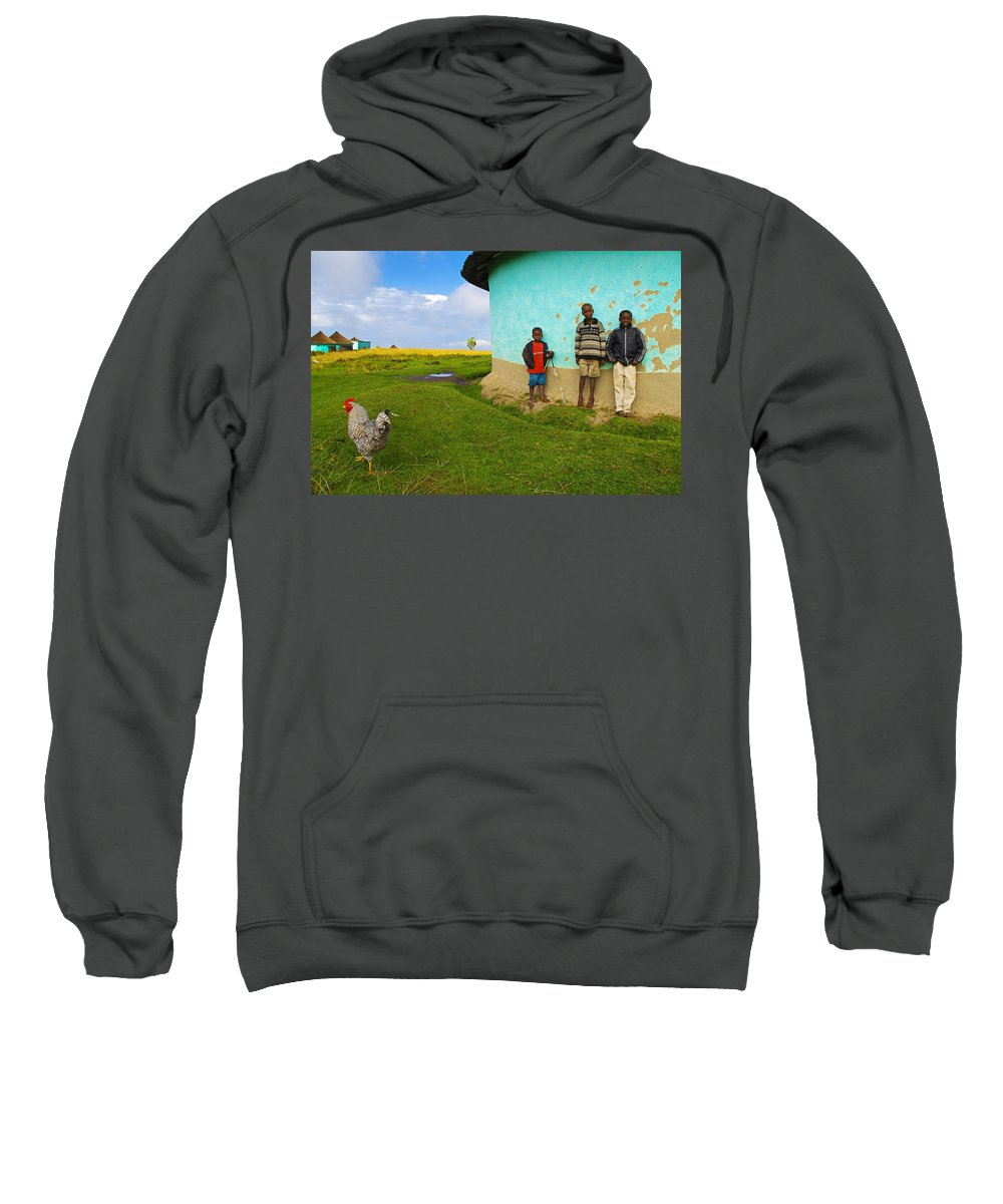 Skip Sweatshirt featuring the photograph Cocky by Skip Hunt