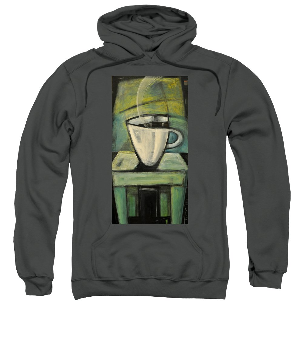 Coffee Sweatshirt featuring the painting Coffee. Table. 2 by Tim Nyberg