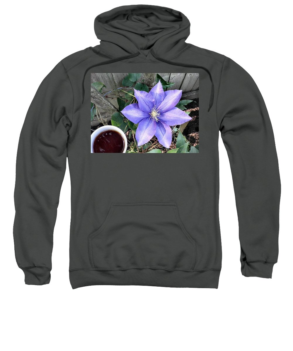 Offee Sweatshirt featuring the photograph Coffee With A Travellers Joy by T Cook