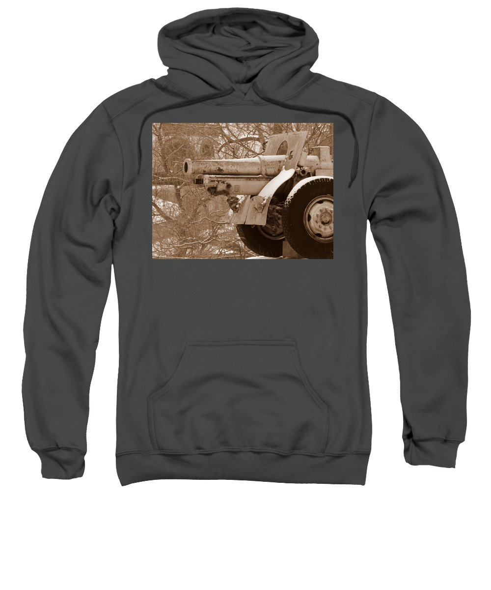 Cold Steel Sweatshirt featuring the photograph Cold Steel Indiana Soldiers Sailors Home by Ed Smith