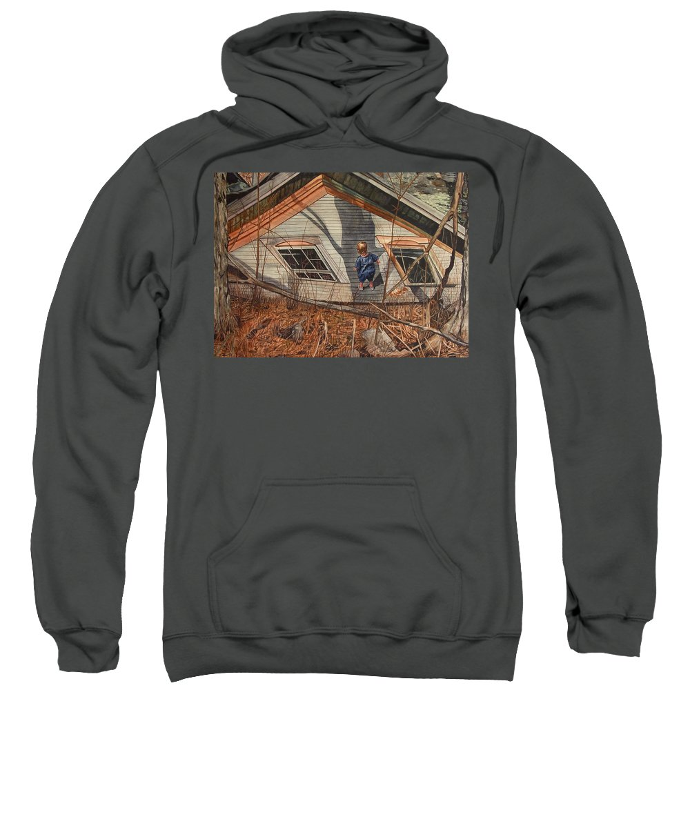 Children Sweatshirt featuring the painting Collapsed by Valerie Patterson