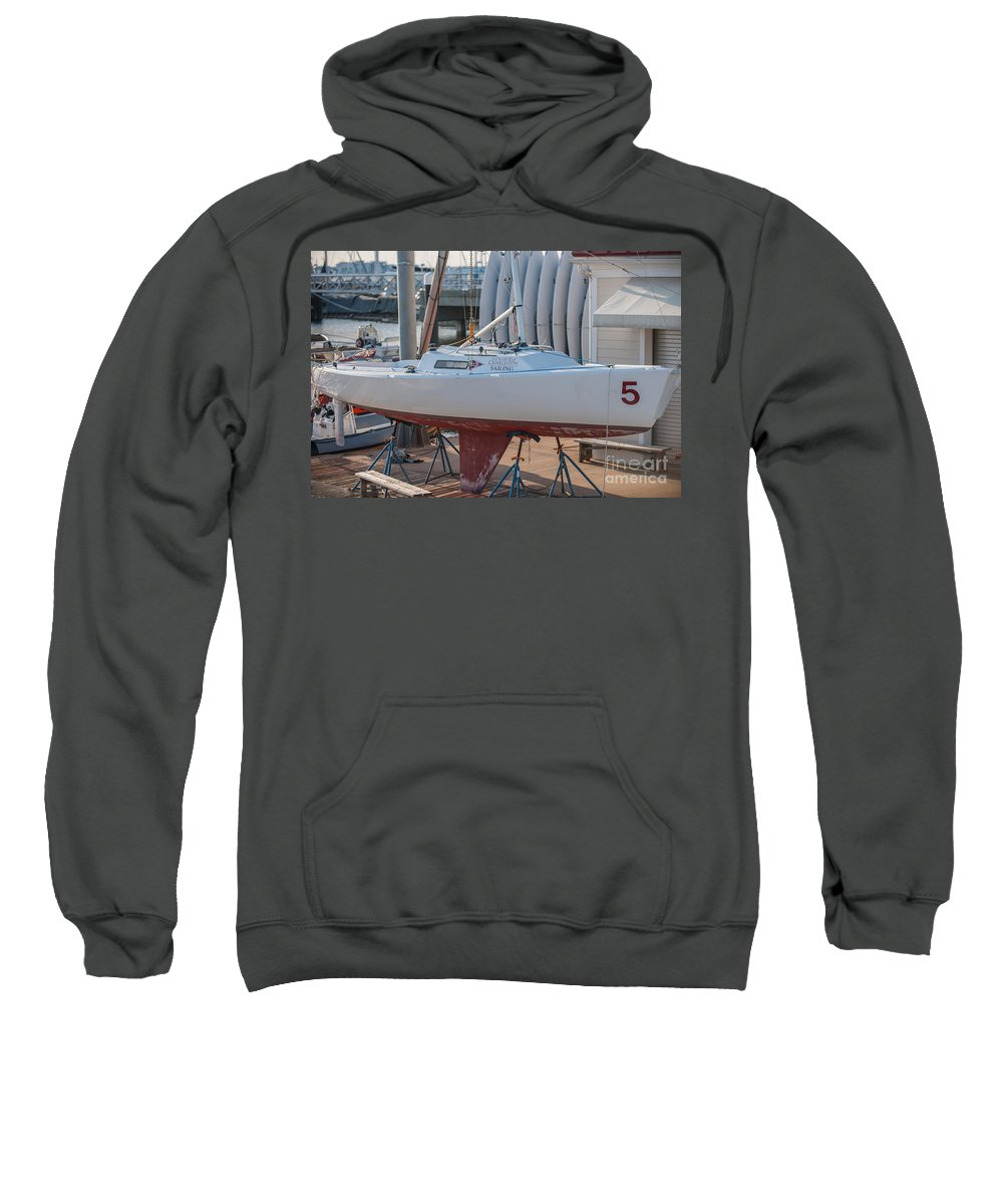 College Of Charleston Sweatshirt featuring the photograph College Of Charleston Sailing by Dale Powell