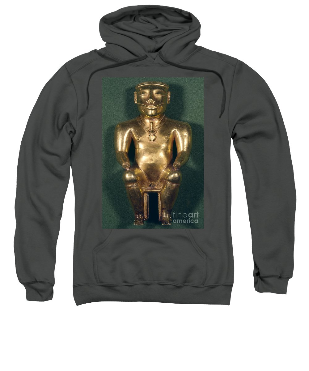 1500 Sweatshirt featuring the photograph Colombia: Gold Figure by Granger