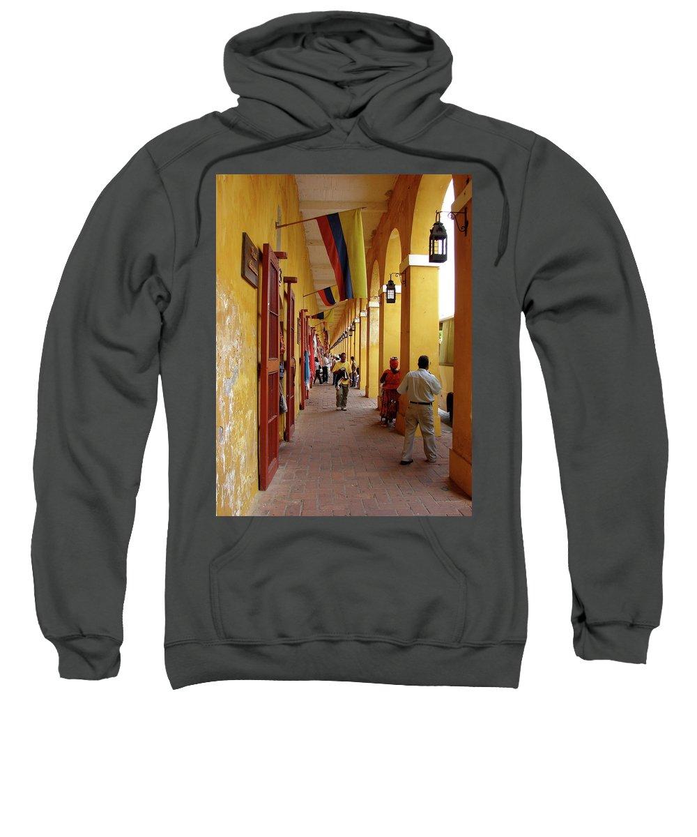 Colombia Sweatshirt featuring the photograph Colombia Walkway by Brett Winn