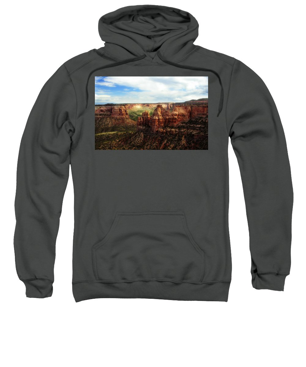 Americana Sweatshirt featuring the photograph Colorado National Monument by Marilyn Hunt