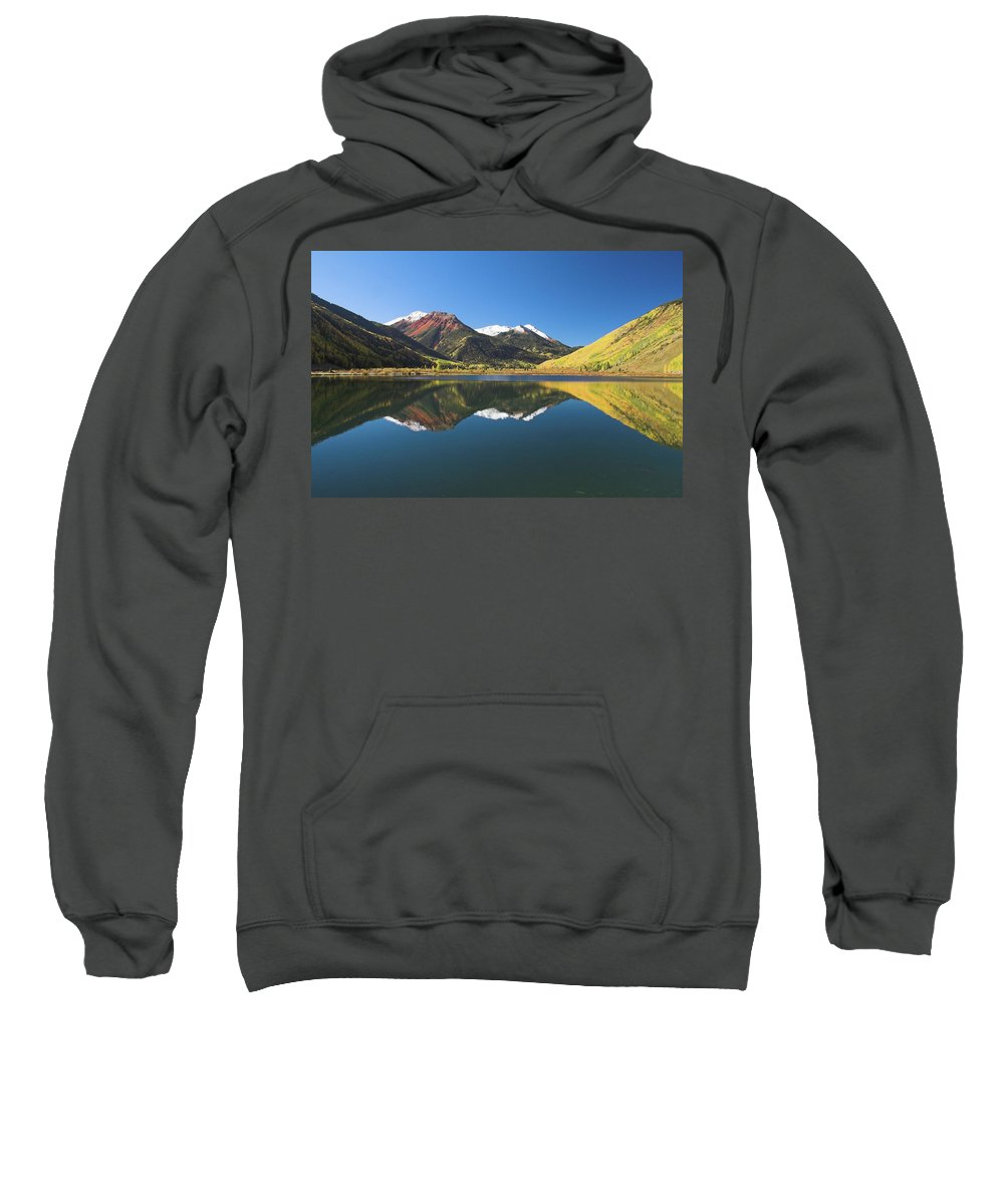 Colorado Sweatshirt featuring the photograph Colorado Reflections by Steve Stuller