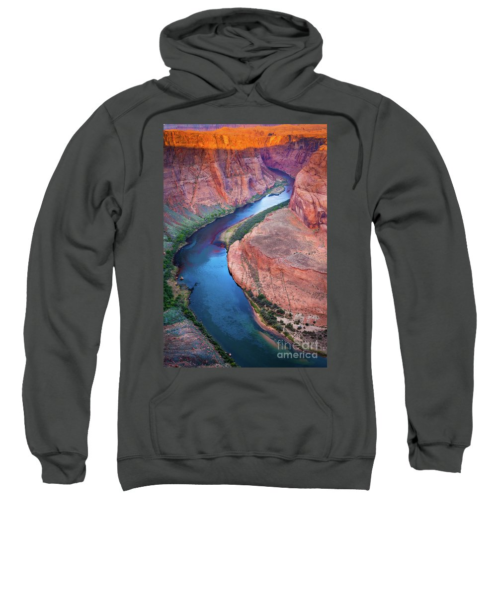 America Sweatshirt featuring the photograph Colorado River Bend by Inge Johnsson