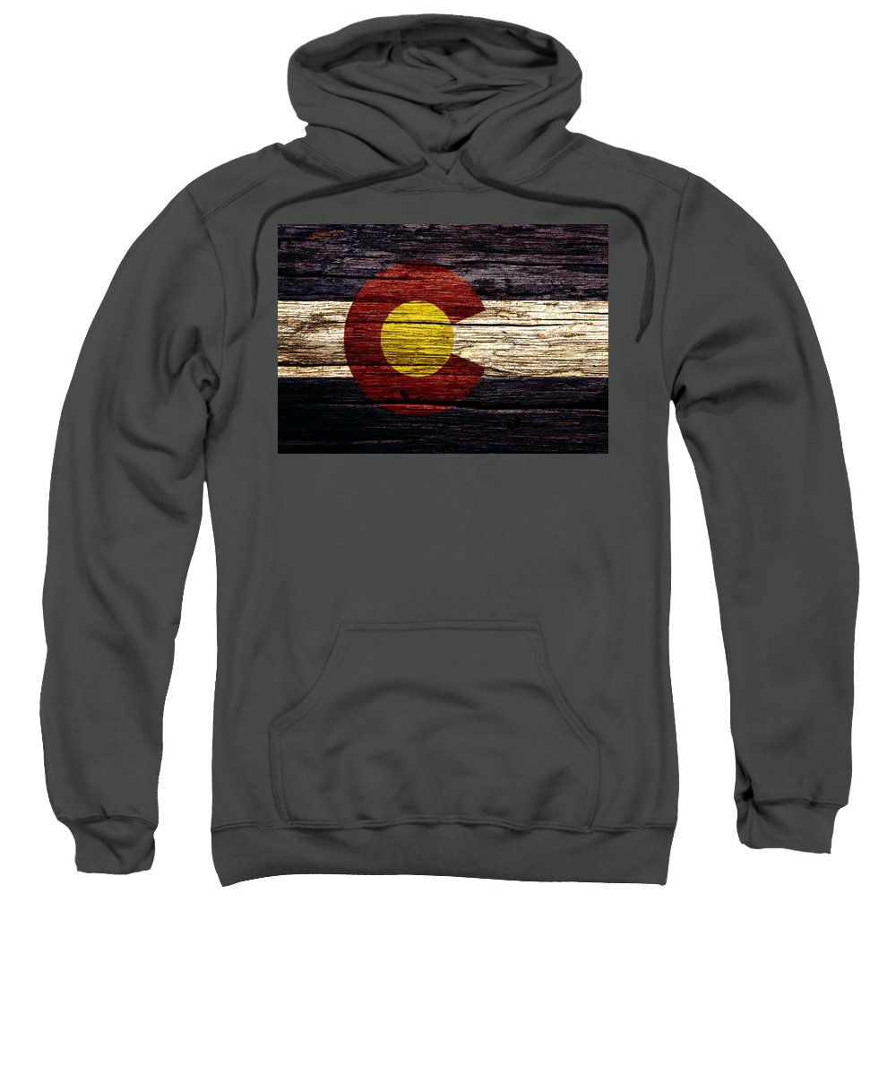 Colorado Sweatshirt featuring the mixed media Colorado State Flag 3w by Brian Reaves
