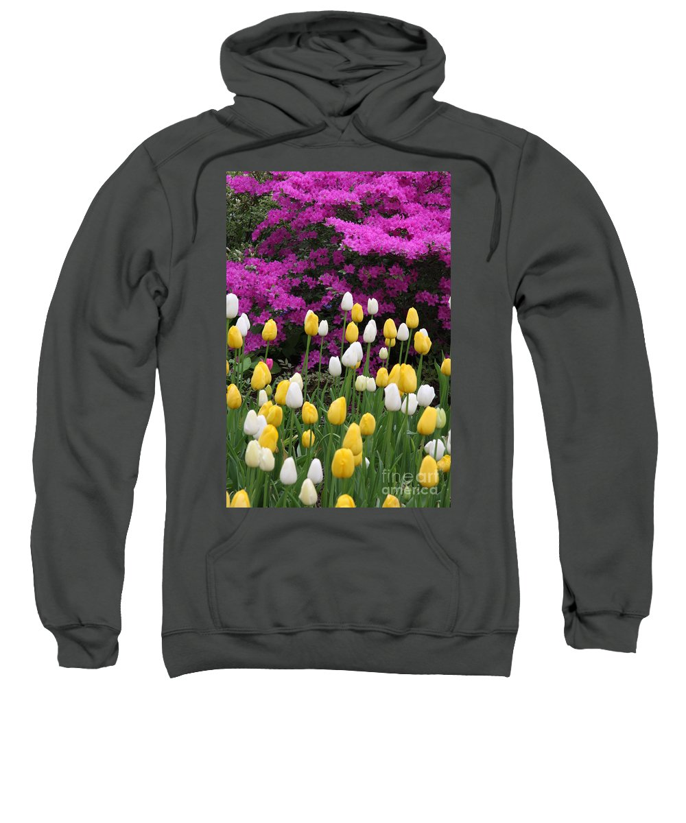 Azalea Sweatshirt featuring the photograph Colorful Spring by Christiane Schulze Art And Photography
