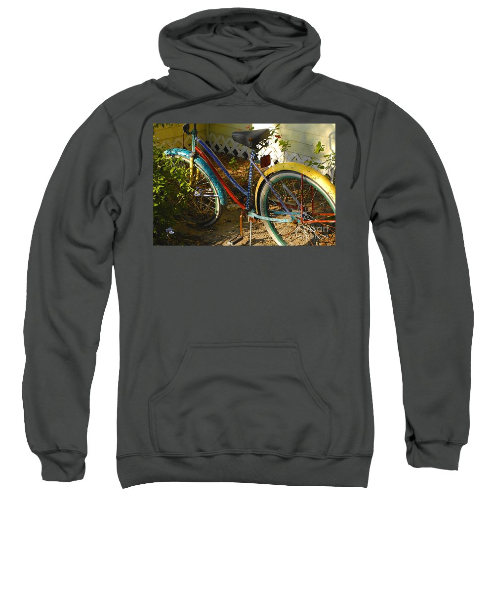 Bicycle Sweatshirt featuring the photograph Colorful Bike by David Lee Thompson