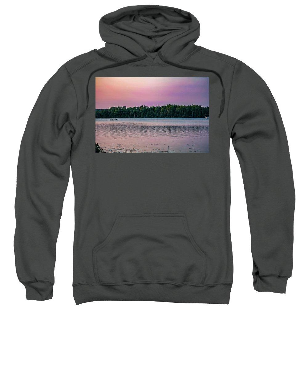 Landscape Sweatshirt featuring the photograph Colorful Lake-side Sunset by Maxwell Dziku