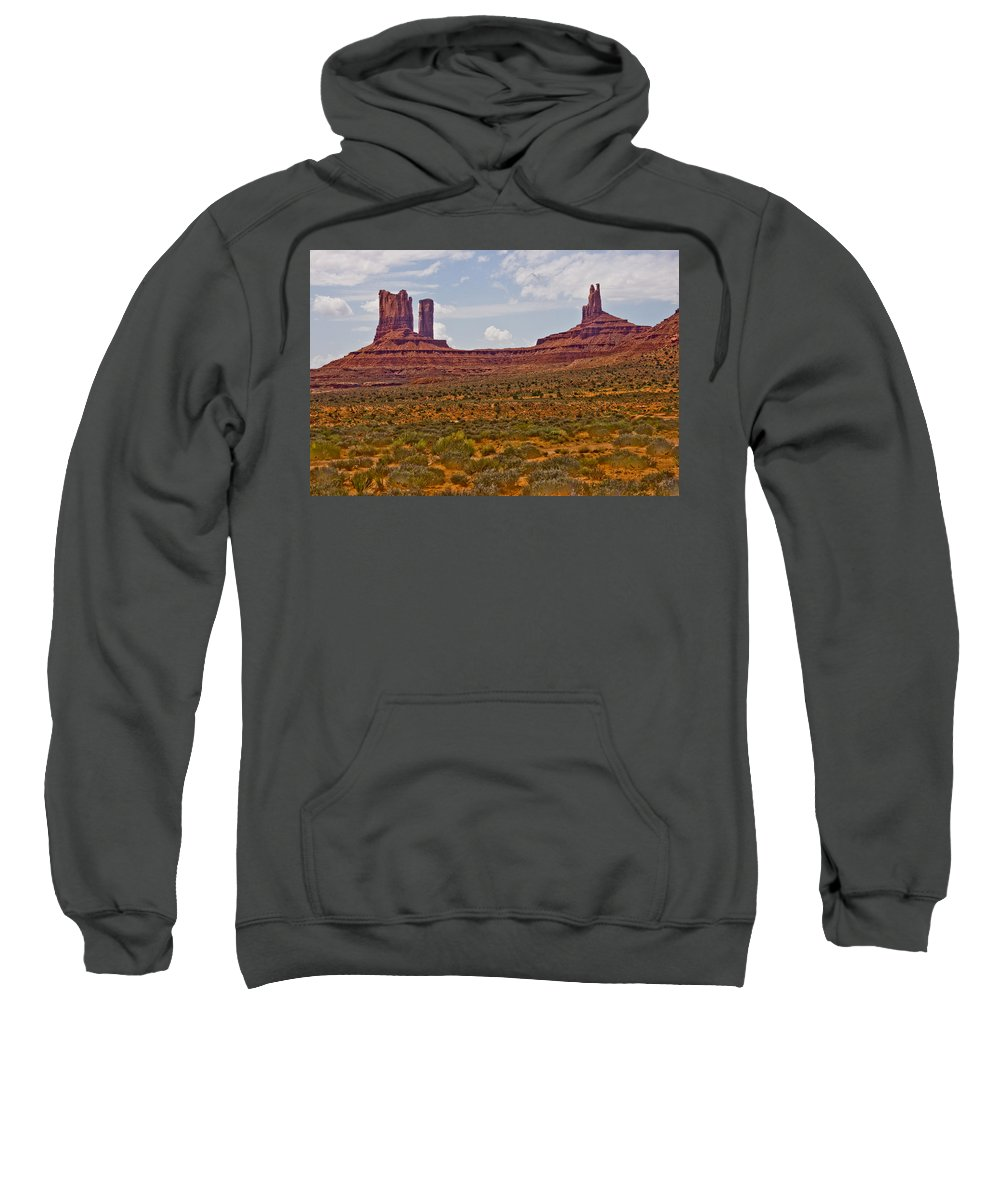 Monument Valley Sweatshirt featuring the photograph Colorful Monument Valley by James BO Insogna