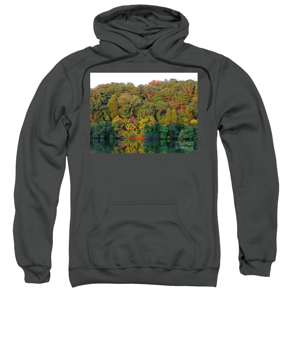 Landscape Sweatshirt featuring the photograph Colorful Sunset by Todd Blanchard