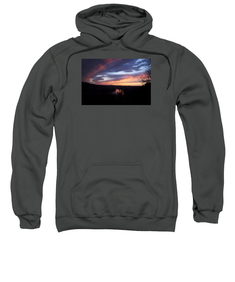 Blue Sunset Sweatshirt featuring the photograph Colorful Sunset by Toni Berry