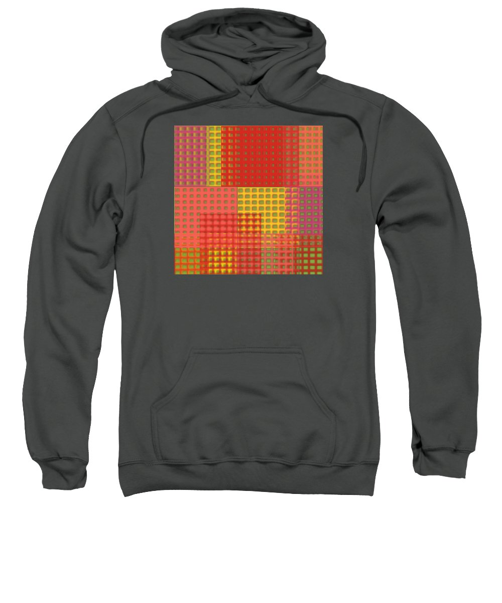 Digital Art Sweatshirt featuring the painting Colorful Weave by Bonnie Bruno