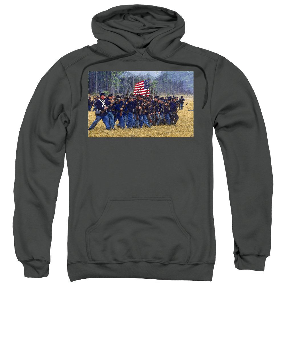 Art Sweatshirt featuring the painting Colors Forward by David Lee Thompson