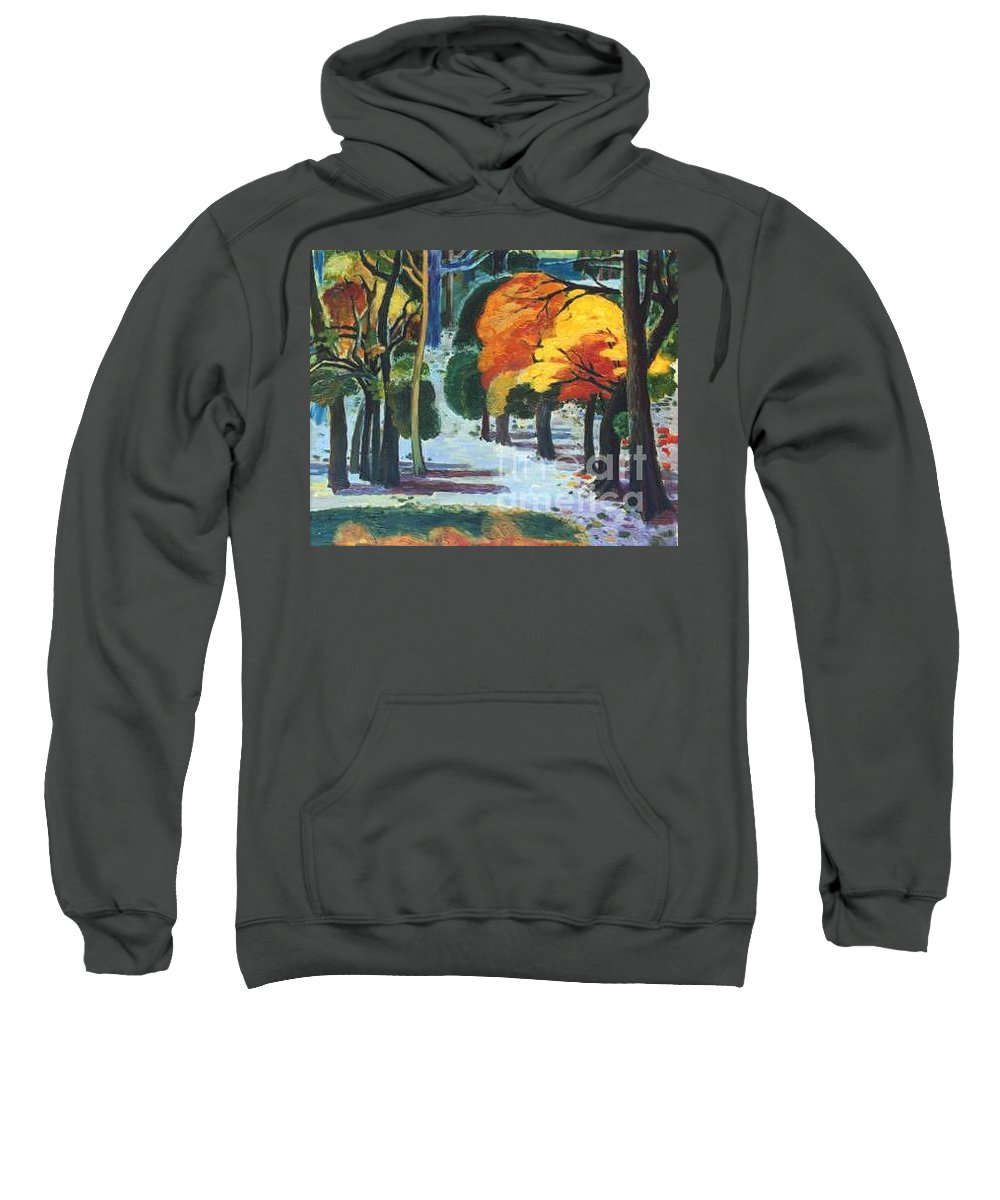 Colors Sweatshirt featuring the painting Colors Of Fall by Meihua Lu