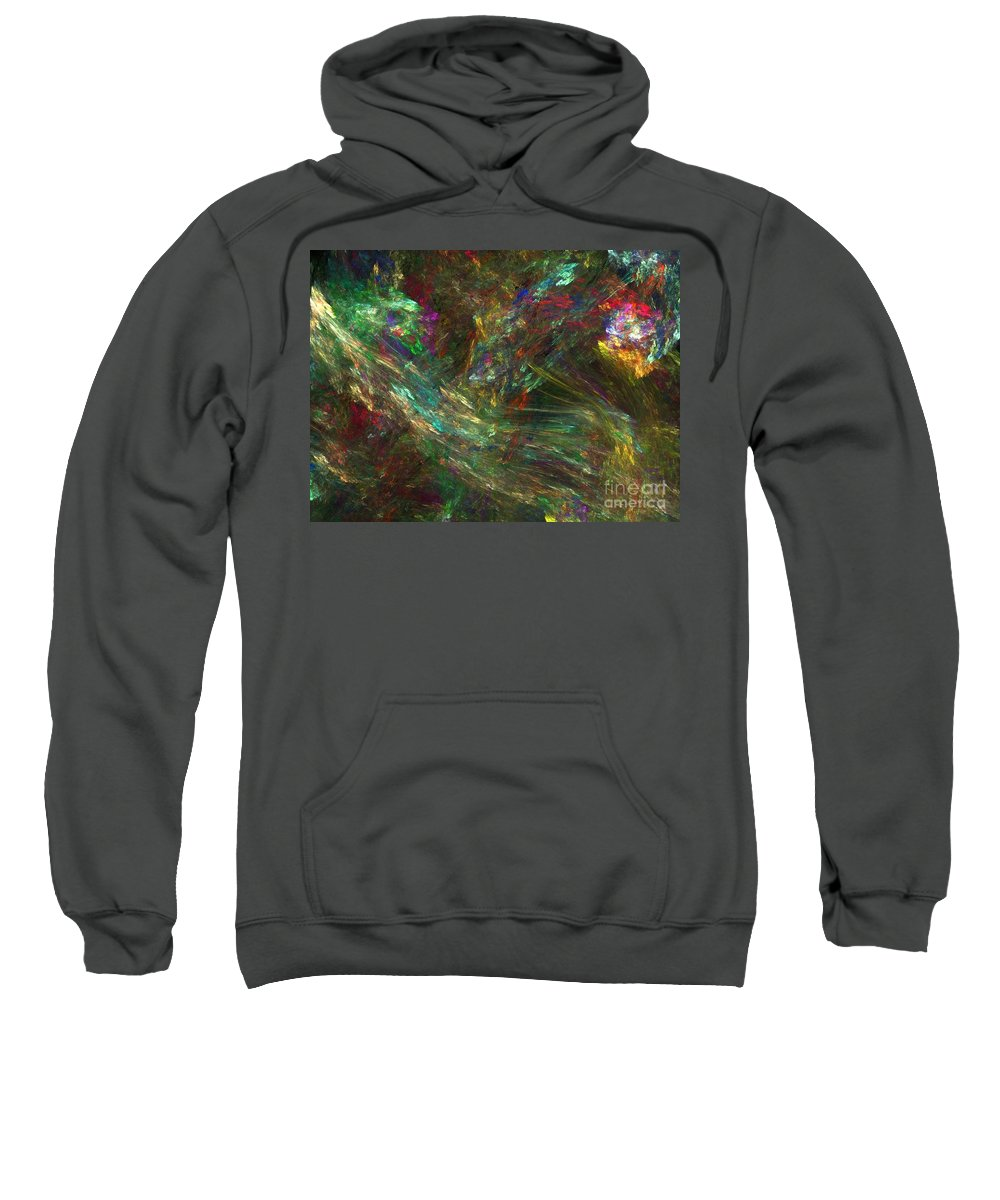 Fractals Sweatshirt featuring the digital art Colors Of Light by Richard Rizzo