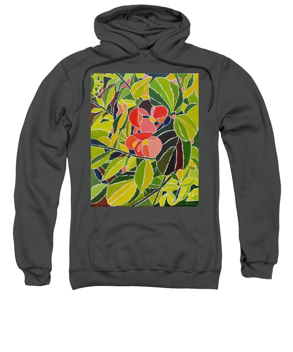 Oil On Canvas Sweatshirt featuring the painting Colors Of Nature by Seema Kumar