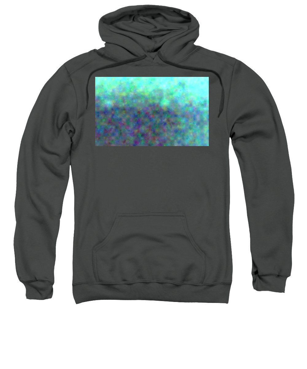 Art Sweatshirt featuring the digital art colour impression 1-A rainy summers day by Alex Porter