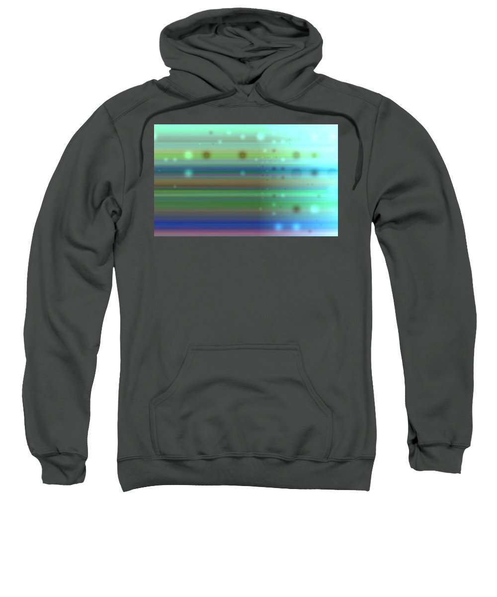 Art Digital Art Sweatshirt featuring the digital art Colour15mlv - Impressions by Alex Porter