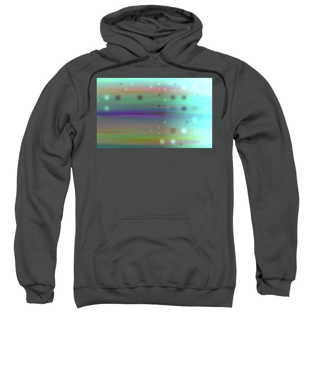 Art Digital Art Sweatshirt featuring the digital art Colour18mlv - Impressions by Alex Porter