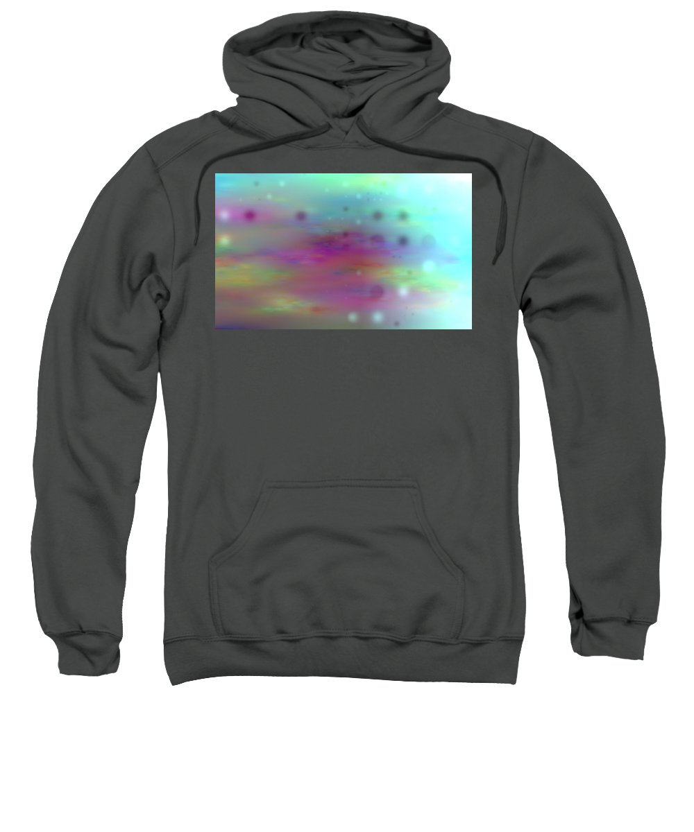 Art Digital Art Sweatshirt featuring the digital art Colour21mlv - Impressions by Alex Porter