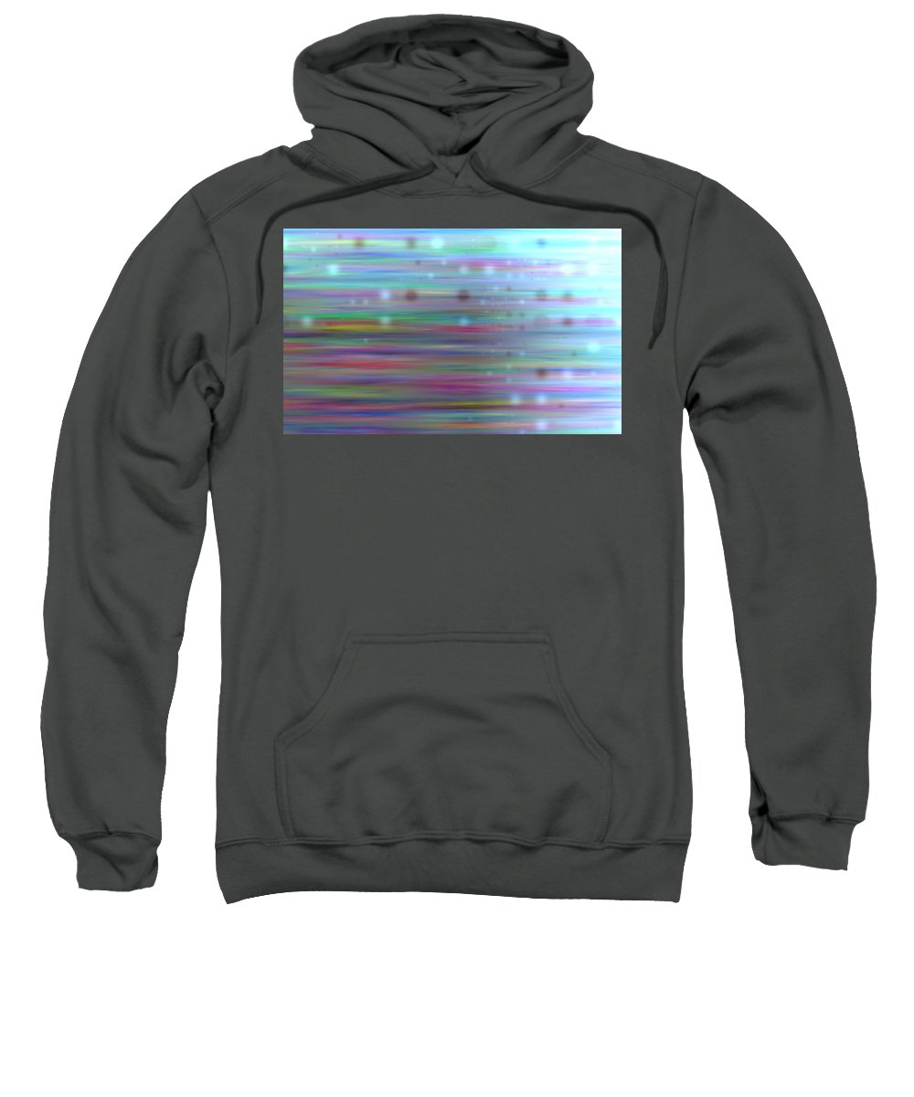 Art Digital Art Sweatshirt featuring the digital art Colour23mlv - Impressions by Alex Porter