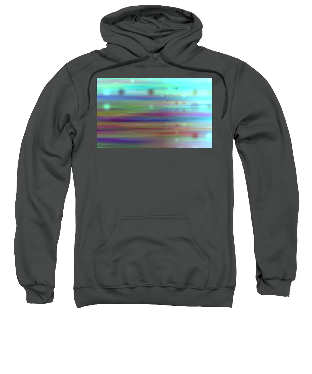 Art Digital Art Sweatshirt featuring the digital art Colour24mlv - Impressions by Alex Porter