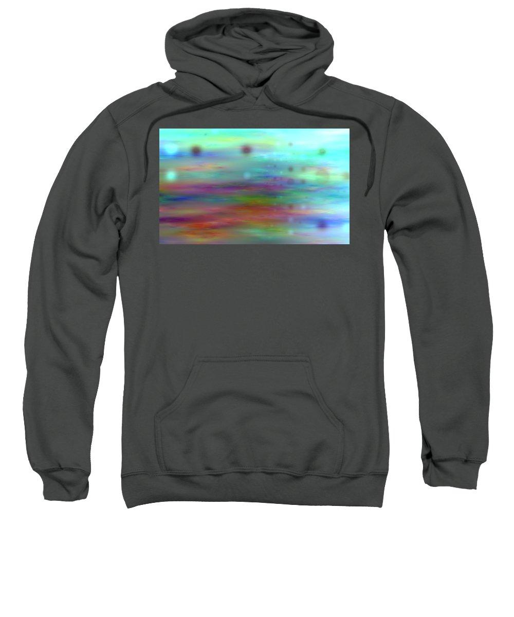 Art Digital Art Sweatshirt featuring the digital art Colour25mlv - Impressions by Alex Porter