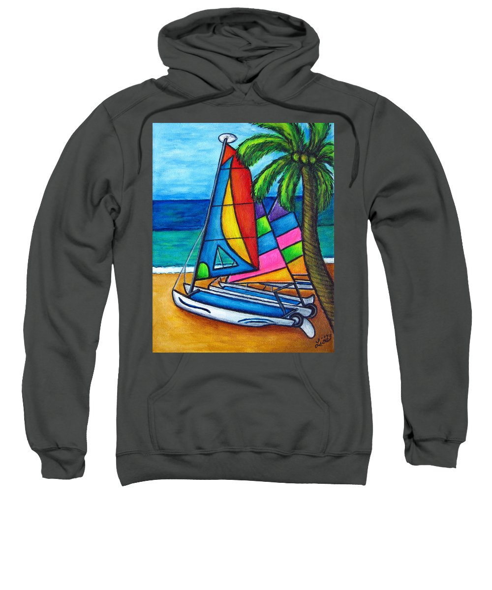 Water Sweatshirt featuring the painting Colourful Hobby by Lisa Lorenz