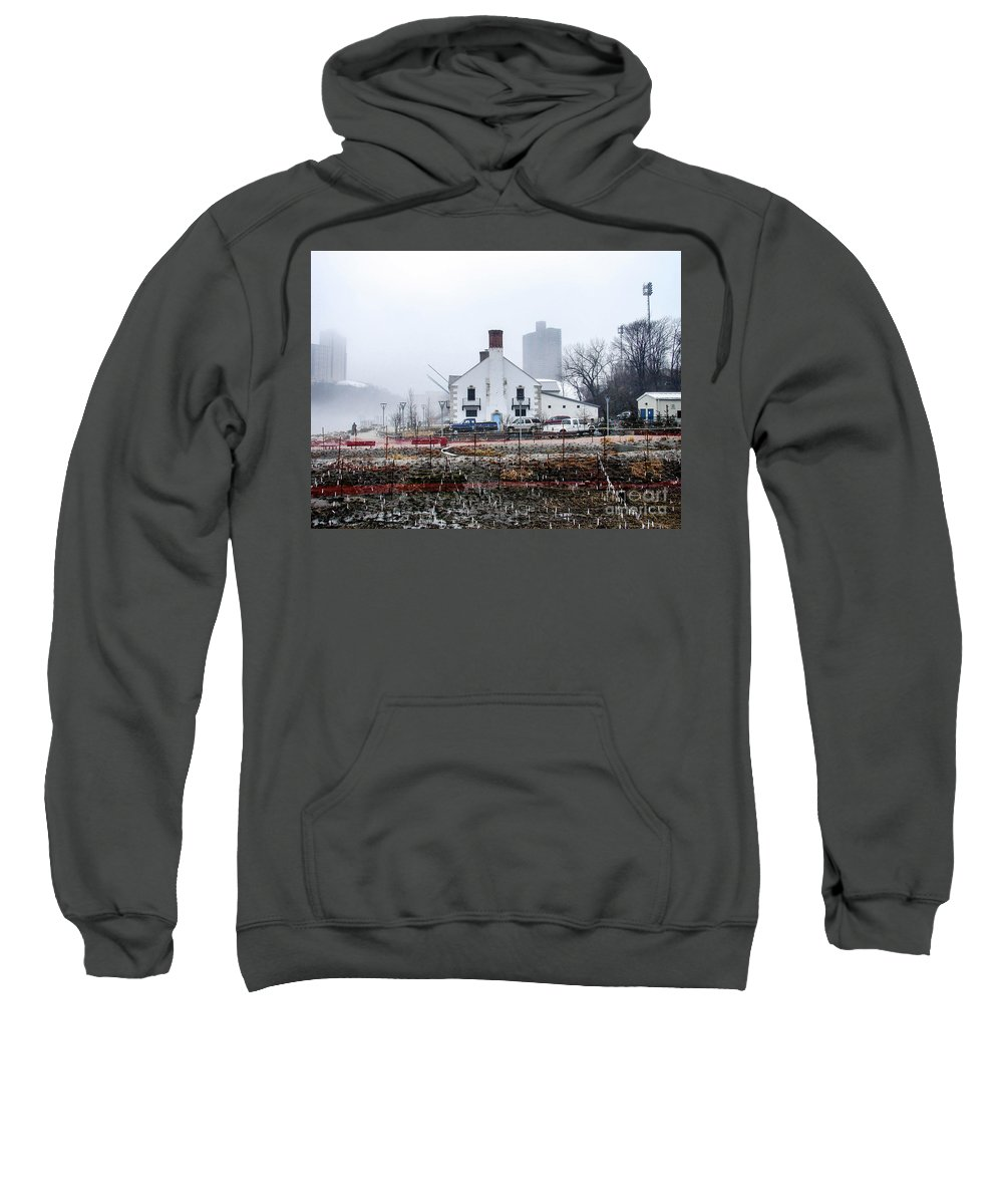 2014 Sweatshirt featuring the photograph Columbia Boathouse by Cole Thompson
