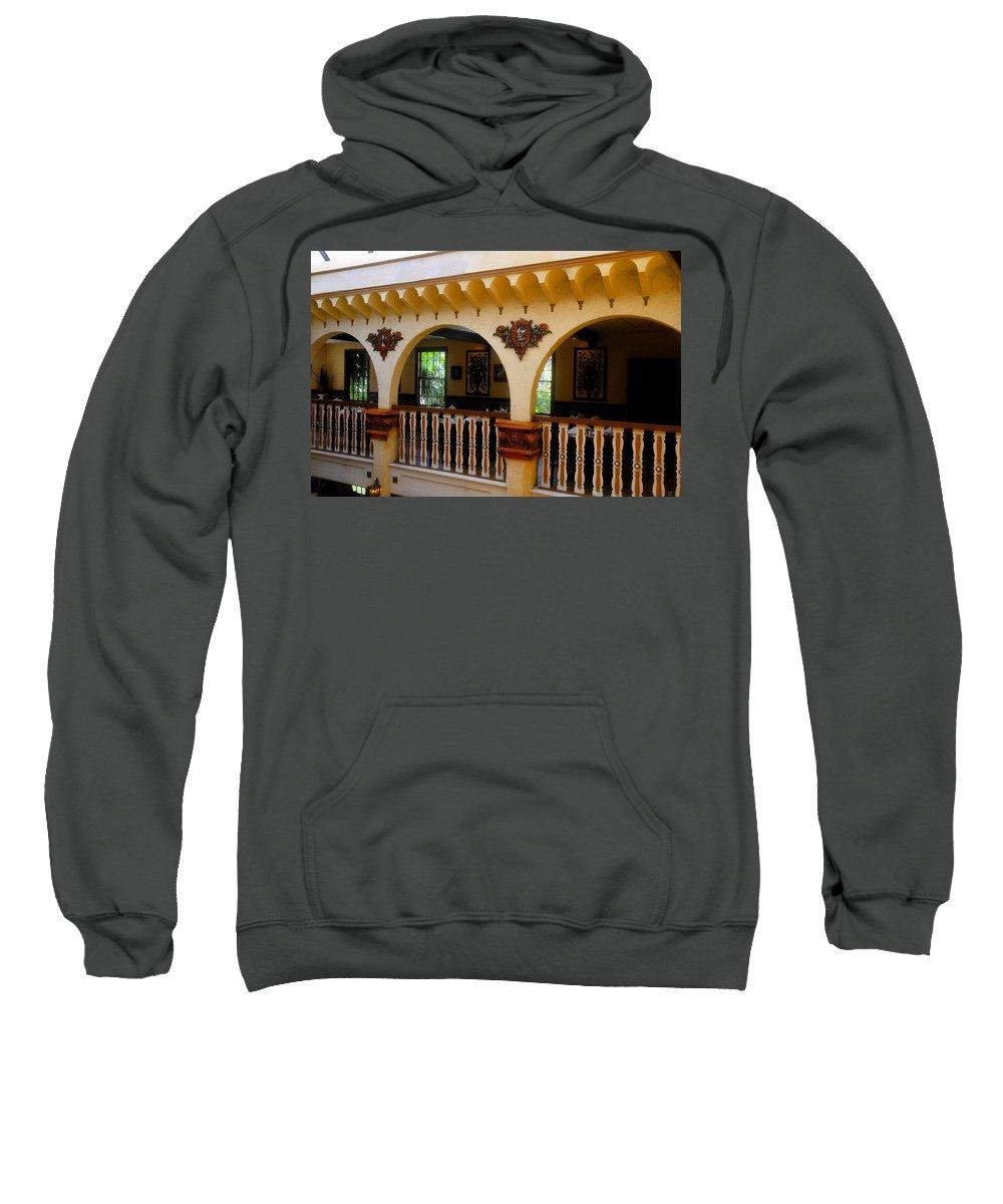 Columbia Restaurant Sweatshirt featuring the painting Columbia Restaurant Work Number Three by David Lee Thompson
