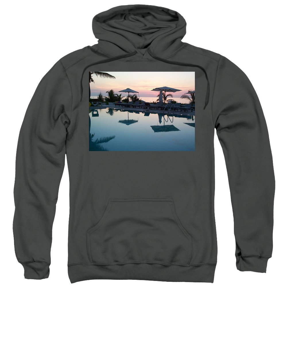 Charity Sweatshirt featuring the photograph Columbus Isle by Mary-Lee Sanders