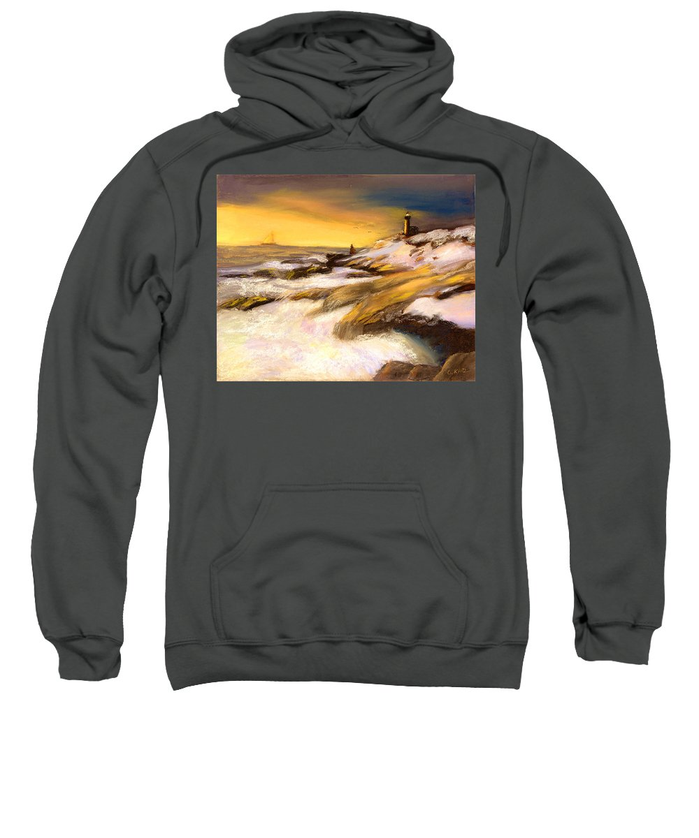 Seascape Sweatshirt featuring the painting Come Home by Gail Kirtz