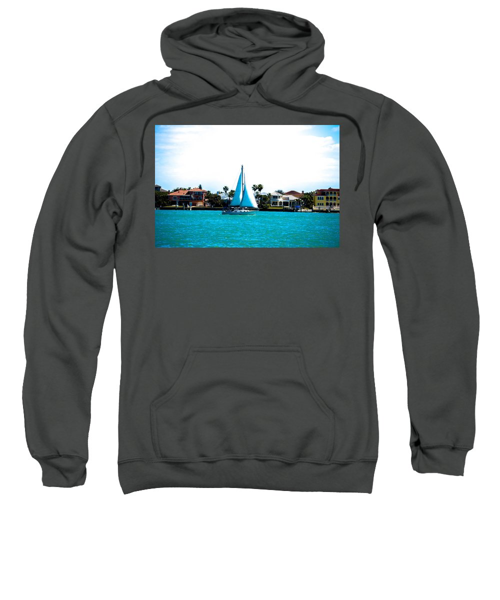 Sailboat Sweatshirt featuring the photograph Come Sail Away by Amanda Liner