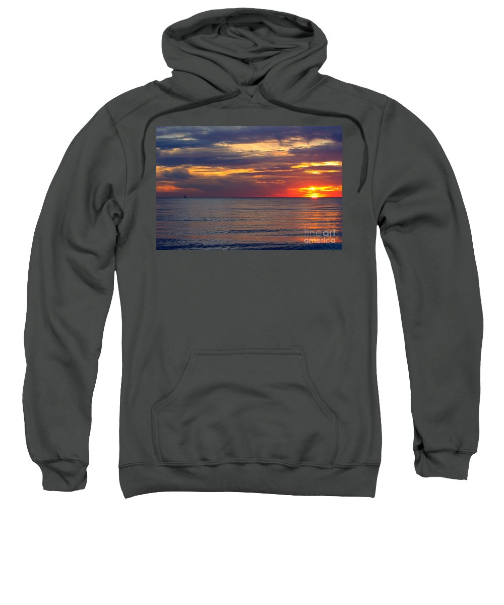 Grand Bend Sweatshirt featuring the photograph Come Sail Away by John Scatcherd