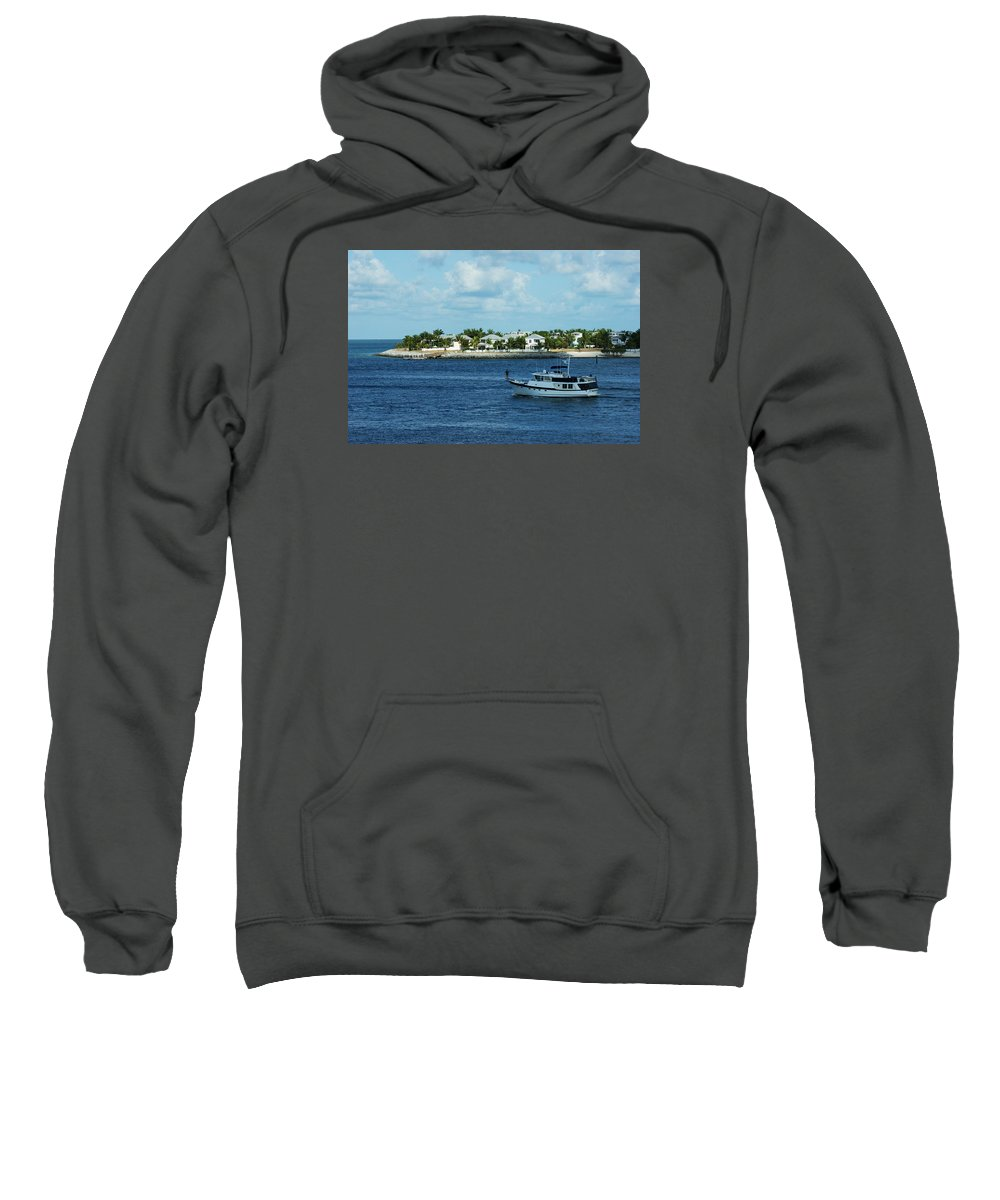 Key West Sweatshirt featuring the photograph Come Sail Away by Maria Keady