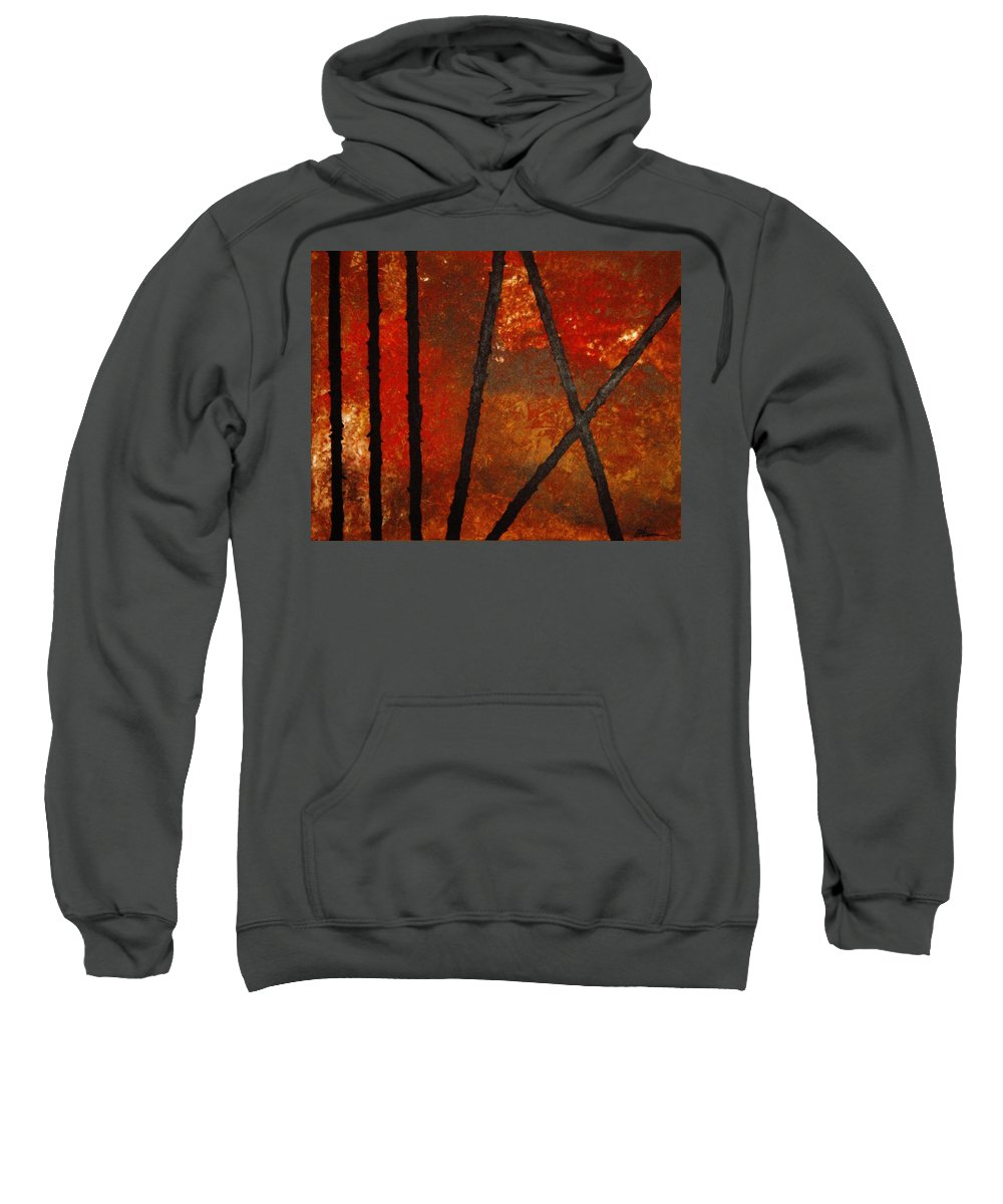 Original Abstract Acrylic Sweatshirt featuring the painting Coming Apart by Todd Hoover