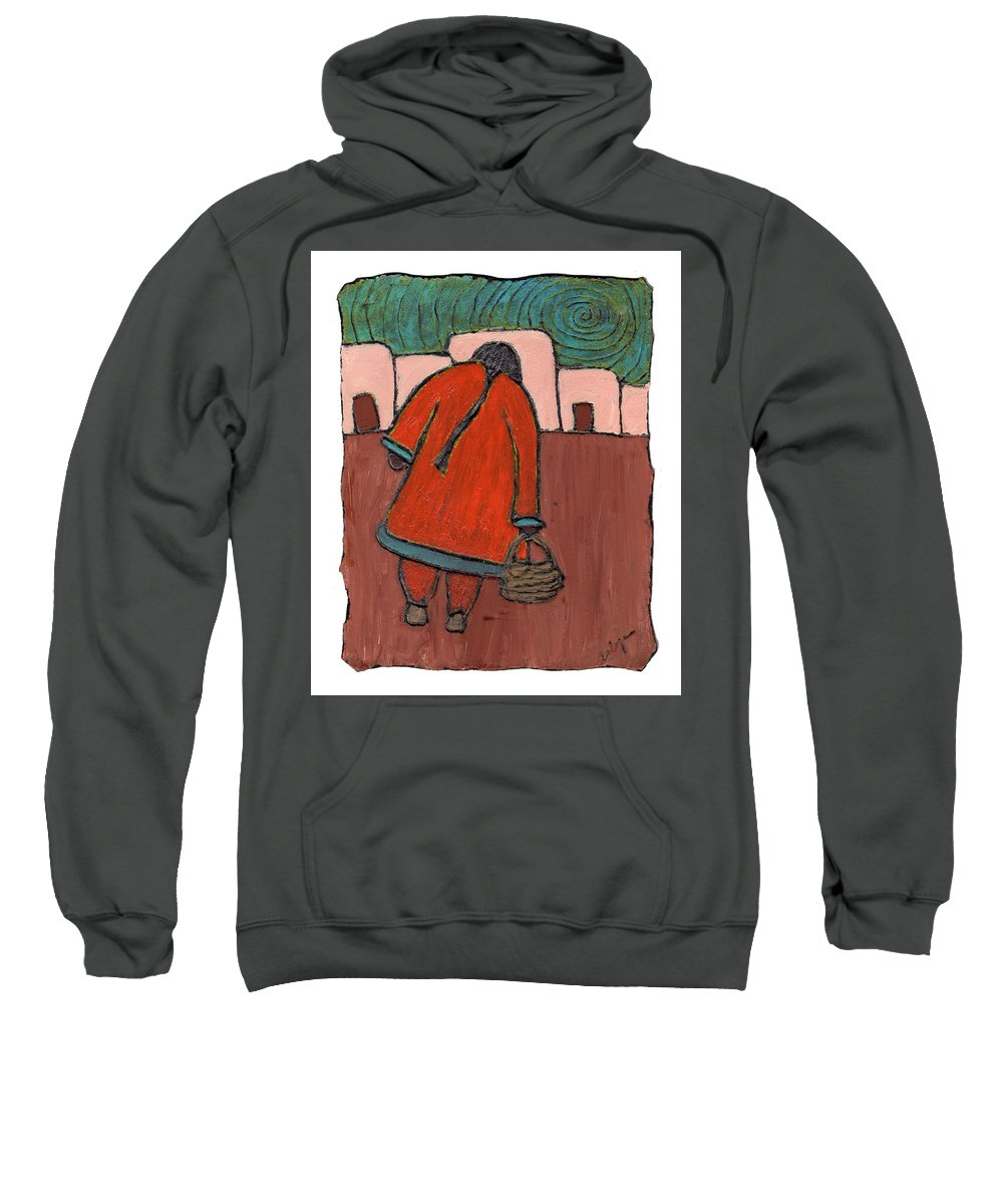 Southwest Sweatshirt featuring the painting Coming Home by Wayne Potrafka