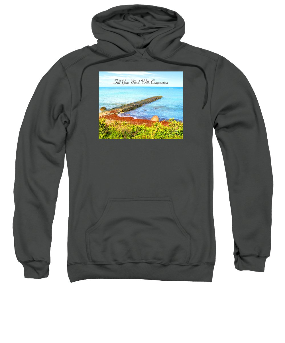 Sweatshirt featuring the digital art Compassion by Joseph Re