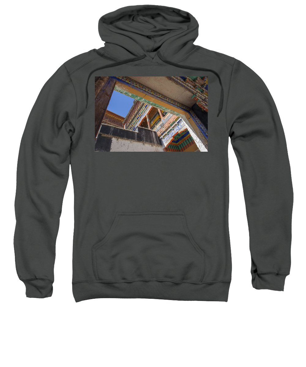 Thiksey Sweatshirt featuring the photograph Composition 1, Thiksey, 2005 by Hitendra SINKAR