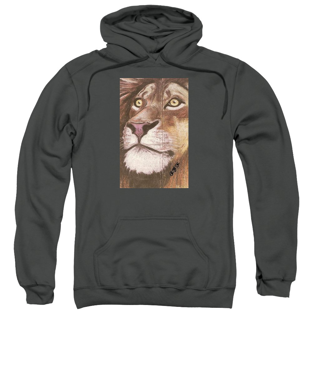 Lions Sweatshirt featuring the painting Concrete Lion by George I Perez