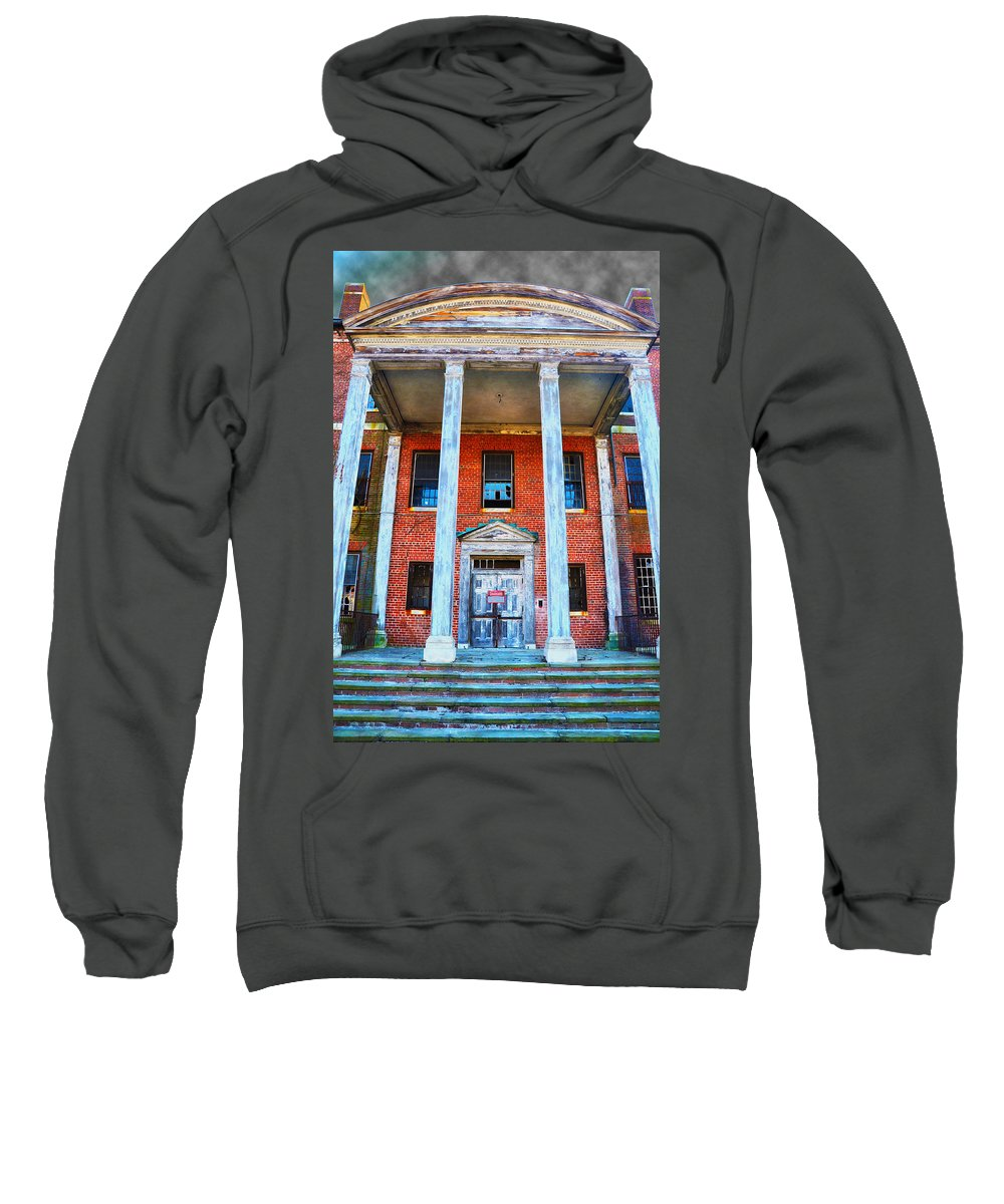 Norristown Sweatshirt featuring the photograph Condemned by Bill Cannon