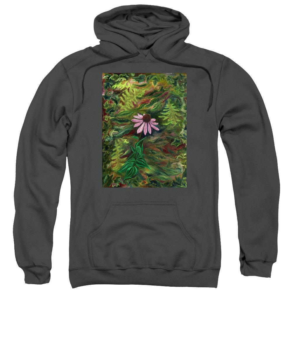 Coneflower Sweatshirt featuring the painting Coneflower by FT McKinstry