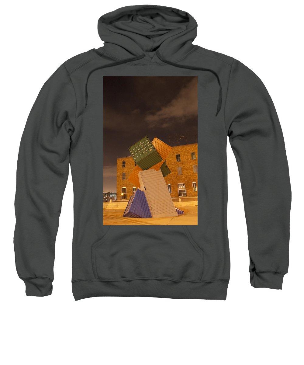 Conex Sweatshirt featuring the pastel Conex 5 by Angus Hooper Iii