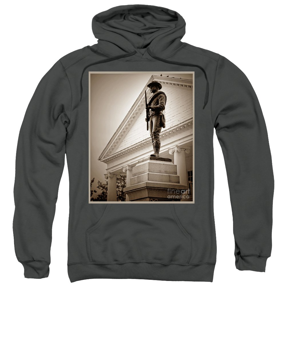 Confederate Sweatshirt featuring the photograph Confederate Memorial In Sepia Tone by Doug Berry