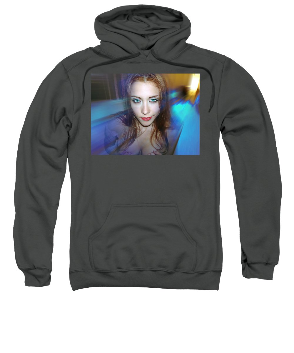 Women Sweatshirt featuring the photograph Confidence by Francisco Colon